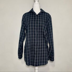 Marc Anthony Plaid Career Button Down Men's Top